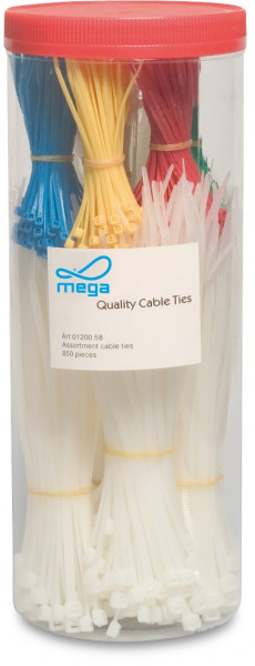 Cable tie assortment box