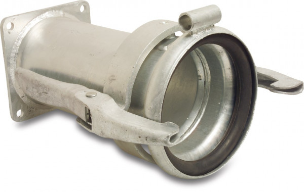 Female coupler DIN with flange and eyelet