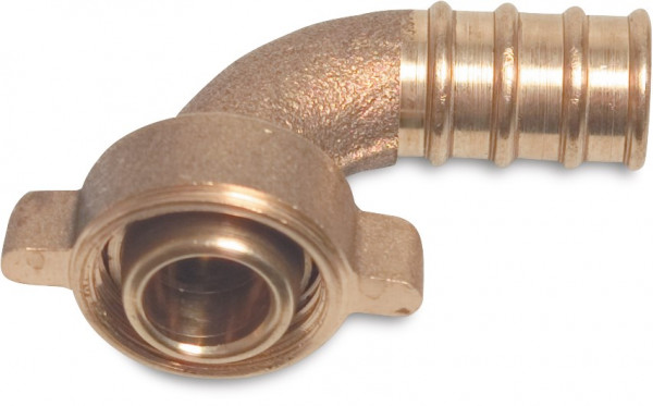 Conical - Hose tail 2/3 union adaptor elbow 90°