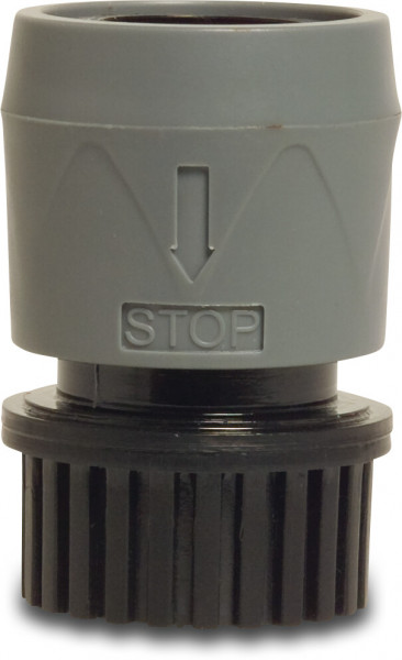 Hydro-Fit Click connector, with water stop